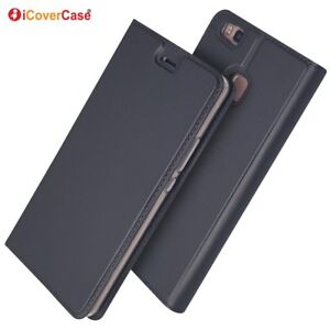 Magnetic PU Leather Flip Case Shockproof Card Cover for Huawei P9 Lite