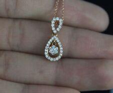 Collares y colgantes de joyería con diamantes de oro rosa, diamante SI1