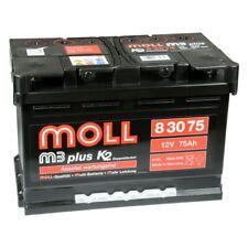 MOLL M3 plus K2 83075 12V 75Ah Autobatterie Startbatterie Batterie*NEU*