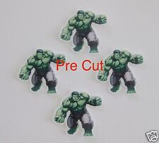 12 PRE CUT THE HULK STAND UP SUPERHERO EDIBLE RICE WAFER CARD CUPCAKE TOPPERS