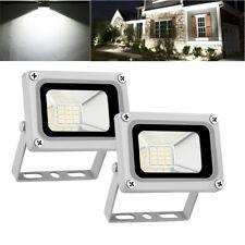 2X 10W LED Flood Light Cool White Outdoor Lighting Landscape Spotlights DC12V