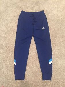 ADIDAS CLIMALITE Athletic Soccer Pants Joggers Track Blue Size M
