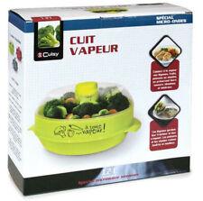 Cuiseur Cuit Vapeur ROUGE Special Micro Ondes cuisine saine VENDEUR FRANCAIS