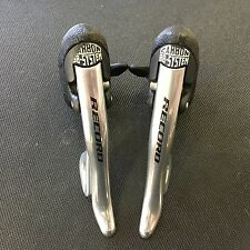 Campagnolo Record 10 Speed Shift Levers Road Shifters Aluminum Silver