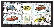 s24948) ITALIA MNH** 1986 Car Industry 3rd 4vFerrari Alfa Romeo Innocenti Fiat