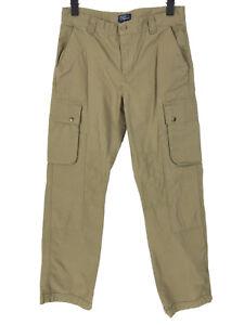 NWOT Polo Ralph Lauren Pants Boys 18 Green Brown Cargo Pockets Utility Outdoor