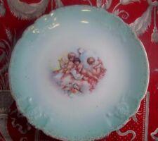 ancienne assiette porcelaine de limoges epoque 1900 romantique angelots putti 2