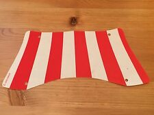 LEGO sailbb35 @@ Cloth Sail 31 x 14 Bottom Recurved Red Stripes Pattern - 7075