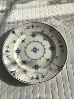 "Furnivals Limited Denmark Blue & White 10"" Dinner Plate England 15-2"