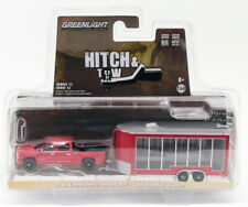 Greenlight 1/64 Scale 32120-B - 2016 Chevrolet Silverado & Trailer Hitch & Tow