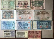 Sammlungsauflösung Posten 12 alte Geldscheine Deutsches Reich -Inflation.... (5)