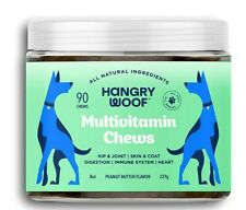 Dog Multivitamin Chews 7 Essential Vitamins Digest Immune Heart Skin Joints 90ct