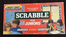 VINTAGE SCRABBLE for JUNIORS 1983 VERSION SPEAR'S GAMES 2 Games in 1 VGC