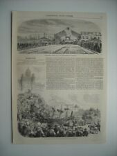 GRAVURE 1857. INAUGURATION DE LA SECTION DU CHEMIN DE FER DE NIORT A LA ROCHELLE