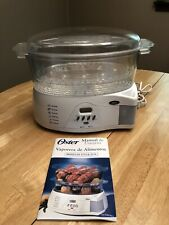 OSTER Electric 6.1 Qt Food Steamer Model 5715 Double Tiered With Rice Bowl