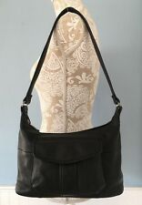 FOSSIL Black Grain Leather Shoulder Bag Hand Bag Purse