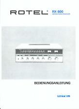 Rotel Bedienungsanleitung user maual für RX- 800 deutsch Copy