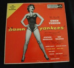 """""""DAMN YANKEES"""" Original Cast Recording RCA Victor Loc-1021 LP 33rpm"""