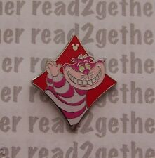 Disney Pin DLR 2013 Hidden Mickey Alice in Wonderland Card Suits Cheshire Cat