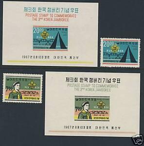 Scouts - Korea - Scott 580 - 581 & 580a - 581a