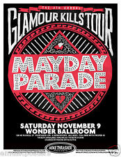 "MAYDAY PARADE ""GLAMOUR KILLS TOUR"" 2013 PORTLAND CONCERT TOUR POSTER - Alt Rock"