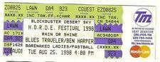 1998 Blues Traveler Ben Harper Full Concert ticket 8/25/1998
