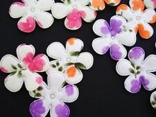 60 Water Color Effect Floral Cotton Print Flower Applique/pink/purple/trim H532