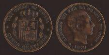 SPAGNA SPAIN ESPANA 5 CENTIMOS 1878 OM