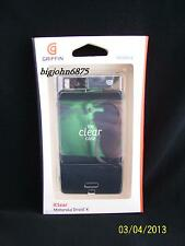 Griffin iClear Crystal-clear hard-shell case for Motorola Droid X