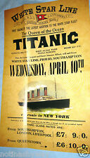 TITANIC Poster Disaster New York City Steamer Travel Sea Liverpool Ship NYC