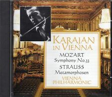 Karajan In Vienna (Remastered 1999 CD) Mozart Symphony 33/Strauss Metamorphosen