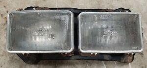83-86 Datsun 720 Truck Driver Left Headlight w Chrome Rings & Bucket Mount