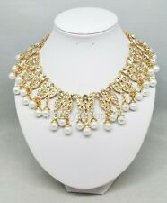 Cleopatra Halloween Costume Necklace Egyptian Queen Nile Collar Rhinestone Gold