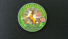 palms las vegas chinese new year of the horse $25 casino chip unc