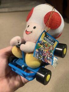 "Super Mario Kart Toad TAKARA 1993 Plush 6"" NWT Toy Doll Japan Tag Rare"
