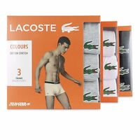 LACOSTE BOXERS - MENS LACOSTE COTTON STRETCH TRUNK - 3 PACK