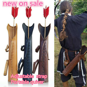 Medieval PU leather Waist Belt Archery Arrow Holder Hunting Quiver Cosplay Props