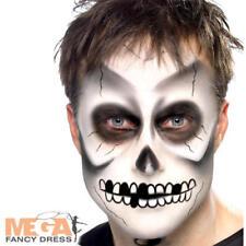 Facepaint Scheletro Costume Halloween BLACK & WHITE MAKE UP KIT