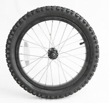"16"" Kids Youth Childrens Bike Front Wheel + Tire Black Aluminum NEW"