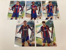 Topps Finest Champions League 2020/21 - FC Barcelona Team Lot 5 Stück Rookie