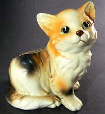 "VINTAGE CERAMIC CAT FIGURINE PLANTER JAPAN 5"" Tall (C24)"
