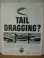 1962 Monroe-Matic Car Shock Absorbers Alligator Tail Vintage Print Ad 10009