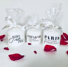 White Candle trio set/ Home Decor and gift/ Parisian Candles