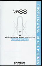 Rare Original Factory Samson VR88 Professional Microphone Mike Owner's Manual