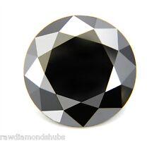 1.51 carats Natural Black Loose Diamond, Round Brilliant Diamond, Jewel Use Nr