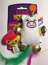 Unicorn & Rainbow Poop Mad Cat Kitten Crinkle Toys CATNIP & SILVER VINE Kicker