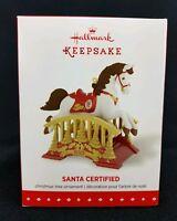 Santa Certified 3rd In The Series Hallmark Keepsake 2015 Ornament