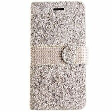 Silver Mobile Phone Wallet Cases for Samsung Galaxy S7 edge