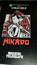 Opera Programme. The Mikado. South Yorkshire Opera Company. Cruciible Theatre..