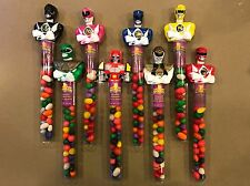 Rare Power Rangers Beanee Boppers Jelly Bean Tube Character Toppers - Set of 8